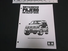 VINTAGE 90's MITSUBISHI PAJERO 1:10 SCALE R/C PARTS LIST & LINE DRAWING *G-COND*
