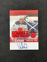 2019-20 UD CREDENTIALS VICTOR OLOFSSON ROOKIE DEBUT TICKET AUTO RED #ed 22/25