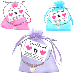 Special Friend Miracle Bead Wish Bracelet Heart Small Verse Card - Friendship
