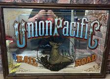 "More details for vintage union pacific railroad mirror 35"" x 25"" good condition"