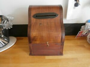 ANTIQUE COUNTRY HOUSE WOOD POST BOX