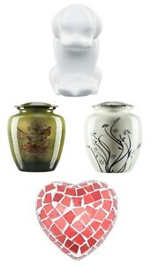 Pet Cat Dog Urns for Ashes Small Mini Keepsake Heart  Memorial Cremation Remains