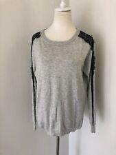 Karen Millen Grey Long Sleeve Top, Sz 3/12 Aus