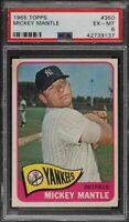 1965 Topps #350 Mickey Mantle - HOF - Yankees - PSA 6 - ExMT - 42739137 - (SCA)