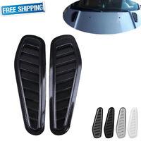 2x Car Auto Decor Intake Scoop Turbo Bonnet Vent Cover Hood Fender Carbon Fiber