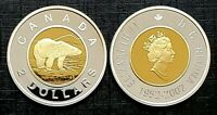 Canada 2002 Gold Plated Proof Gem Fine Silver UNC Toonie!!