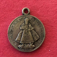 "Antique Catholic Religious Holy Medal - Enfant Jesus De Prague  By "" PENIN """