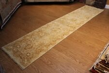 12' Hand-knotted fine vegetable/natural dyed with natural wool Persian Runner