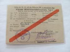 Kleiner Wehrmachtfahrschein,Teil 1,v Lambach nach Wels, 255/XI, 1944