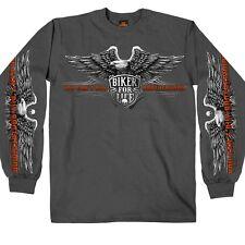Men's Long Sleeve Graphic T-shirt, You Can't Buy Brotherhood, Biker Size XL