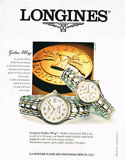 PUBLICITE ADVERTISING 114  1995  LONGINES collection montres  GOLDEN WING