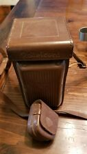 ROLLEICORD leather case with strap and small case