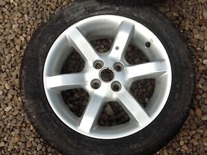 """MGTF MGF 4 15"""" STARFIRE ALLOY WHEELS WITH ORIGINAL CONTINENTAL PREMIUM CONTACT 2"""