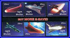 BHUTAN =  NASA SPACE SHUTTLES in ORBIT x6 STAMPS MNH ** UNMOUNTED/EXPENSIVE!!!!!