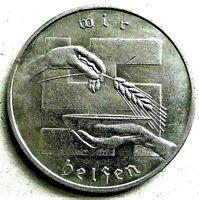WW2 GERMAN NSD AP WINTERHILFSWERK COLLECTORS COIN 2 SCHILLINGS