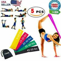 Resistance Bands Loop Set 5 Legs Exercise Workout CrossFit Fitness Yoga Booty