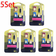 5 Set 5 IN 1 Nano SIM Card to Micro Standard Adapter Adaptor Converter for Phone