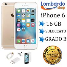 APPLE IPHONE 6 16GB GRADO B ORO GOLD ORIGINALE RIGENERATO RICONDIZIONATO USATO
