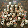 Vintage Lot of 45 COATS & CLARKS Empty Wood Thread Spools Crafting Sewing