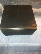 "Wooden CD Holder Holds 40 CDs Black 11.5"" x 11.5"" x 7 "" tall Unbranded"