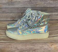 Giorgio Armani holographic High Top Sneakers (Size: 6) EUR 36