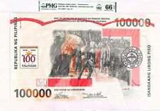 1998 PHILIPPINES 100000 PISO PESO COMMEMORATIVE PMG 66 EPQ GS 0819