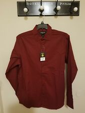 Men's Clairborne Long Sleeve Shirt Xl,L Biking Red Print New With Tags!