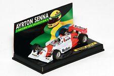 "Minichamps F1 1/43 1992 Ayrton Senna Penske Mclaren ASC#4 w/ ""Race Livery"" Decal"