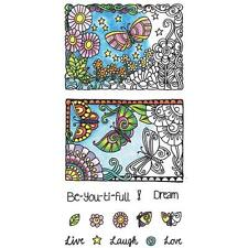 New Hampton Art Color Me Clear Rubber Stamp Set Beautiful Cling Free us ship