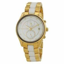 Michael Kors MK6466 Briar Gold and White Wrist Watch for Women
