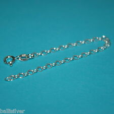 """Genuine 925 Sterling Silver 6"""" CHAIN EXTENDER with Spring Ring Clasp"""