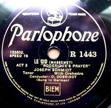 0864/Joseph Schmidt-Rodrigues 's Prayer-s' en vont Fair vis-Chant germano-gomme laque