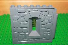 Lego Duplo Ritterburg (4875) 1 x Wand mit Fenster in grau für Turm Castel Ritter