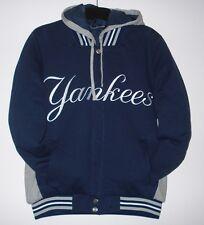 2XL MLB NewYork  Yankees Reversible  Fleece Jacket With Removable  Hoodie  XXL