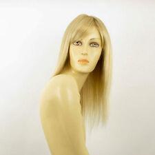 Perruque femme mi-longue blond doré méché blond très clair VERA 24BT613