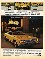 Vintage 1973 Magazine Ad Ford Galaxie 500 Quiet Is The Sound Of A Well Made Car