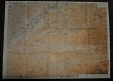 1918 WW1 WWI LARGE MAP ADVANCE to AVESNES FRANCE TRELON GLAGEON MORMAL FOREST