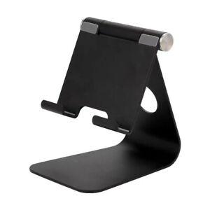 """Tablet Stand Desktop Holder Mount For iPad Pro 12.9"""" 11""""  iPhone Black"""