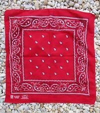 Paris Rn13960 vintage bandana red black white floral print western cowboy 19�