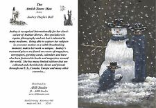 10 Amish Snowman Blank Greeting Cards by artist Audrey Hughes Bell - AHB Studio