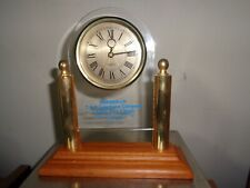 Golf C & P Telephone Company Indian SpringsTrophy  Mantle Clock 1990 Working