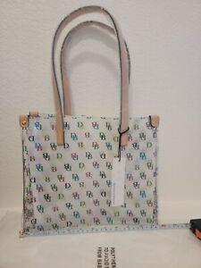 NWT Dooney Bourke Clear IT Medium Shopper Bag Purse Tote