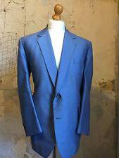 vintage Bespoke Mohair Sky Blue Wedding Suit Size 44