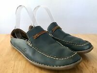 Born Women's Dark Teal Leather Mules Slip On Casual Shoes 8.5
