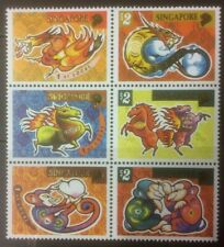 SINGAPORE 2000/2002/2004 CHINESE NEW YEAR IN BLOCK OF 6 FROM SPECIALISED S/S