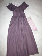 1900 Victorian Edwardian Dickens dress gown COSTUME size 2 P mauve Music Man
