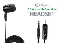 Black 3.5mm Single Ear Stereo Hands Free Earpiece with Mic & On/Off Button