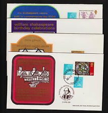 Opc X4 1974 Stratford Gb Shakespeare Birthday Celebrations Unadressed