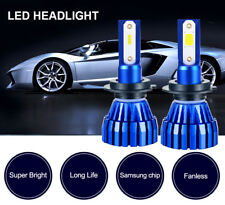 2Pair 9005+9006 COB LED Headlight Kit 100W 16000LM Combo High or Low Beam Bulbs