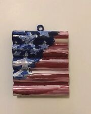 acrylic paintings original by artist, American flag,small accent piece
